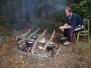 Příprava tábora v Blážově